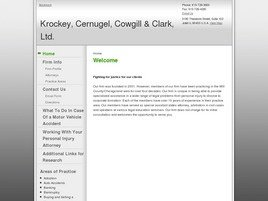 Krockey, Cernugel, Cowgill & Clark, Ltd. Law Firm Logo