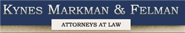 Firm Logo for Kynes Markman Felman P.A.