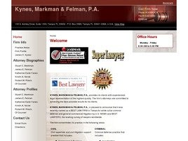 Kynes, Markman & Felman, P.A. Law Firm Logo
