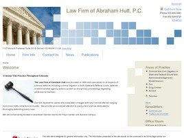 Firm Logo for Law Firm of Abraham Hutt P.C.