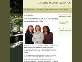Allyson Hughes, P.A. Law Firm Logo