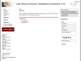 Firm Logo for Law Office of Caruso Swerbilow Camerota P.A.