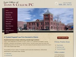 Law Office of <br />Tony S. Cullum, P.C. Law Firm Logo
