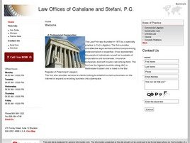 Law Offices of <br />Cahalane and Stefani, P.C. Law Firm Logo