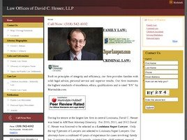 Law Offices of <br />David C. Hesser, L.L.P. Law Firm Logo