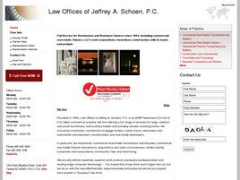 Law Offices of <br />Jeffrey A. Schoen, P.C. Law Firm Logo