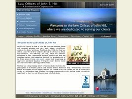 Law Offices of John E. Hill <br />A Professional Corporation Law Firm Logo