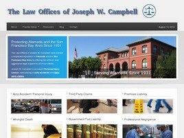 Law Offices of <br />Joseph W. Campbell <br />A Professional Corporation Law Firm Logo