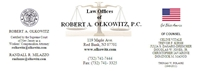 Law Offices Of <br />Robert A. Olkowitz Law Firm Logo