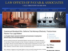 Firm Logo for Law Offices Of<br />Payab & Associates