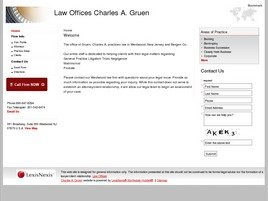 Law Offices <br />Charles A. Gruen Law Firm Logo