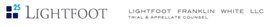 Lightfoot, Franklin & White, L.L.C. Law Firm Logo