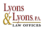 Lyons & Lyons, P.A. Law Firm Logo