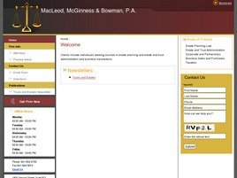 Firm Logo for MacLeod, McGinness & Bowman, P.A.