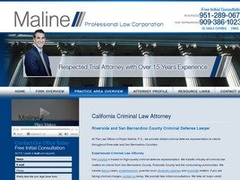 Maline Law Offices <br />Professional Law Corporation Law Firm Logo