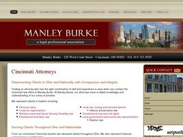 Manley Burke <br />A Legal Professional Association Law Firm Logo