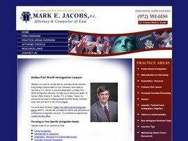 Mark E. Jacobs, P.C. Law Firm Logo