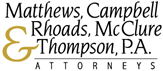 Matthews, Campbell, Rhoads, <br />McClure & Thompson <br />Professional Association Law Firm Logo