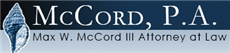 Firm Logo for Max W. McCord III, Attorney at Law