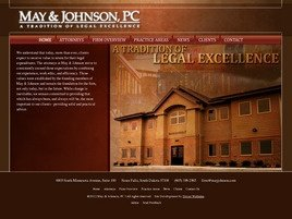 May & Johnson, P.C. Law Firm Logo