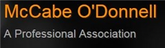 McCabe O'Donnell <br />A Professional Association Law Firm Logo