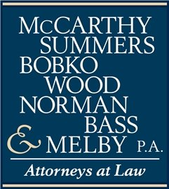 McCarthy, Summers, Bobko, Wood, Norman, Bass & Melby, P.A. Law Firm Logo