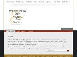 McConnaughhay, Coonrod, Pope, Weaver, Stern & Thomas, P.A. Law Firm Logo