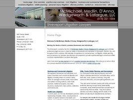 Firm Logo for McMichael, Medlin, D'Anna, <br />Wedgeworth & Lafargue, L.L.C.