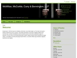 Firm Logo for McMillan McCorkle Curry Bennington LLP