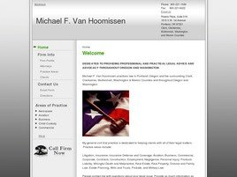 Michael F. Van Hoomissen Law Firm Logo