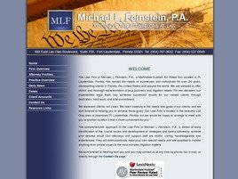 Michael L. Feinstein, P.A. Law Firm Logo