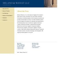 Milano & Wanat, LLC Law Firm Logo