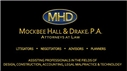 Mockbee Hall & Drake <br />A Professional Association Law Firm Logo