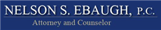 NELSON S. EBAUGH, P.C. Law Firm Logo