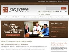 Palm Harbor Law Group, P.A. Law Firm Logo