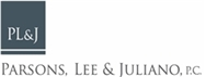Parsons, Lee & Juliano, P.C. Law Firm Logo