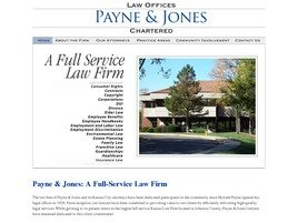 Payne & Jones <br />Chartered Law Firm Logo
