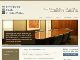Firm Logo for Peterson Fram Bergman A Professional Association