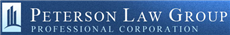 Peterson Law Group <br />Professional Corporation Law Firm Logo
