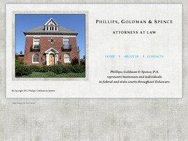Firm Logo for Phillips, Goldman & Spence, P.A.