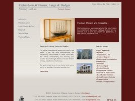 Richardson, Whitman, <br />Large & Badger <br />A Professional Corporation Law Firm Logo