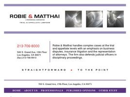 Robie & Matthai <br />A Professional Corporation Law Firm Logo