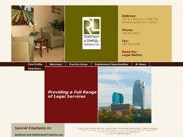 Robinson & Lawing, L.L.P. Law Firm Logo