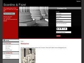 The Law Offices of <br />Scardino & Fazel Law Firm Logo