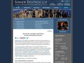 Singer Deutsch LLP Law Firm Logo