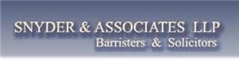 Snyder & Associates LLP Law Firm Logo