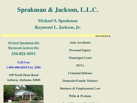 Speakman & Jackson, L.L.C. Law Firm Logo