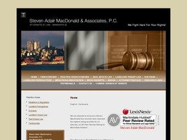 Steven Adair MacDonald <br />& Associates, P.C. Law Firm Logo
