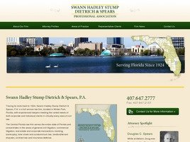 Swann Hadley Stump Dietrich <br />& Spears, P.A. Law Firm Logo