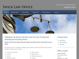 Swick Law Office Law Firm Logo